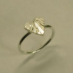Gold Heart Ring by  Faith Tavender Jewellery