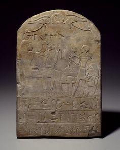 Stela of User-pekhty-nisu and his wife, Pa-netjer, ca. 1539-1292 B.C.E. Limestone, 14 1/2 x 9 3/4 x 2 15/16 in. (36.8 x 24.8 x 7.5 cm). Brooklyn Museum, Charles Edwin Wilbour Fund, 37.1353E. Creative Commons-BY