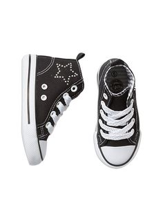 Pumpkin Patch - footwear - girls starry hi top - W5FW30011 - black - 6 to 3l