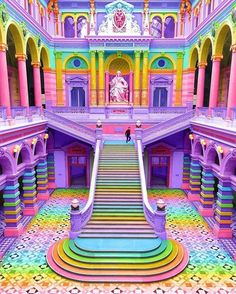 "veryprivateart: "" Photo based digital art by Ramzy Masri aka Space Ram Teen Girl at Heart, Rainbow Witch, Nickelodeon Design, NYC Queer "" Rainbow House, Rainbow Art, Rainbow Colors, Rainbow Stuff, Rainbow Things, Rainbow Drawing, Girl Room, Girls Bedroom, Girl Bedroom Designs"