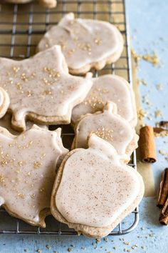 Cinnamon Sugar Cookies. These soft and buttery sugar cookies are loaded up cinnamon and spice plus they're topped with a cinnamon icing for even more flavor! Perfect for Fall and an easy Thanksgiving treat.