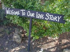 Black Rustic Wood Wedding Sign on Stake Welcome by craftmarttexas, $26.00