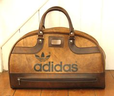 VINTAGE ADIDAS PETER BLACK (KEIGHLEY) BROWN HOLDALL SPORTS BAG RETRO 1970's 80's