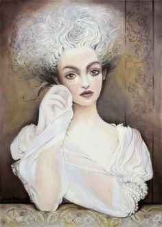 Grazyna Federico - Bianca Acrylic on canvas 50 x 70 cm
