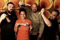 Chefs André Batista, Renata Carvalho, Rodrigo Almeida e Tonico Lichtsztejn