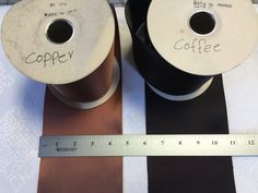 Vintage French Satin Ribbon Copper/Coffee. Wide Ribbons,Trim,Millinery. Sold by the Yard. by AnafrezNotions on Etsy