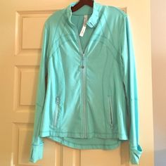 Lululemon jacket Lululemon blue jacket! Beautiful color and only worn a couple of times! In perfect condition! lululemon athletica Jackets & Coats
