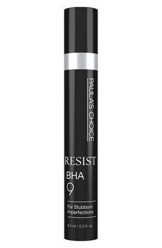 Free shipping and returns on Paula's Choice Resist BHA 9 at Nordstrom.com. What it is: A gel-serum in a controlled release formula for maximum skin smoothing with noticeable results.Who it's for: Anyone who experiences persistent skin imperfections.What it does: This treatment improves the appearance of tenacious skin concerns such as enlarged or clogged pores, bumps, signs of aging and rough, dry skin patches. The one-of-a-kind targeted formula works quickly to visibly eliminate the…