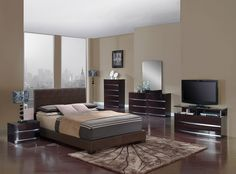 aurora wenge glossy bedroom set elegantly styled the aurora wenge glossy bedroom set will enhance