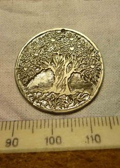Apple Tree Pendant  overall dimensions by Silver-Otter.deviantart.com on @deviantART