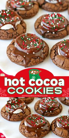 Baked Goods For Christmas Gifts, Easy To Make Christmas Treats, Christmas Baking Gifts, Easy Christmas Cookie Recipes, Easy To Make Desserts, Holiday Baking, Homemade Christmas, Chocolate Christmas Cookies, Holiday Cookies
