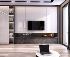 Smart home TV pole Tv Console Design, Tv Wall Design, Living Room Plan, Living Room Modern, Built In Furniture, Tv Unit Furniture Design, Tv Wanddekor, Modern Tv Wall Units, Family Room Walls
