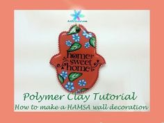 Polymer Clay Tutorial - How to Make a HAMSA Wall Decoration - Lesson #14 - YouTube