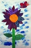 Artsonia Art Exhibit :: Collage Flowers inspired by Eric Carle