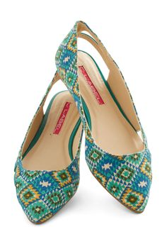 Work Retreat Flat. What to slip on for work thats also play? #blue #modcloth