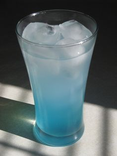 Freezard (The Legend of Zelda: Ocarina of Time Cocktail) Ingredients:1.5 parts UV Blue Vodka1.5 parts Lemonade1 part Mountain Dew White Out (limited edition) Directions: Fill glass with ice, crushed or otherwise.  Pour UV Blue and lemonade into the glass, then top with Mountain Dew White Out. Watch out for its freezing breath! Destroy it completely before it revives.  (Thanks goes to Purias for creating, photographing, and submitting this great cocktail!)