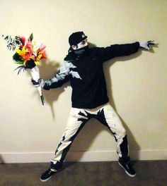 Real life Bansky graffiti halloween costume