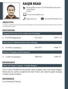 Exceptional Free Resume Templates For Students Professional Fresh Students CV Template  By Saqib Ahmad, Via .