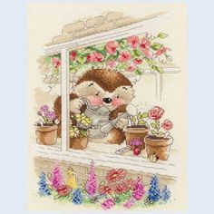 Cottage Window - counted cross stitch kit Coats Crafts