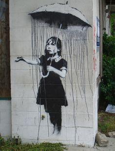 Banksy is an England-based graffiti artist. His satirical street art and subversive epigrams combine irreverent dark humor with graffiti done in a distinctive Banksy Graffiti, Banksy Artwork, Bansky, Banksy Canvas, Graffiti Quotes, Banksy Artist, Banksy Paintings, Art Paintings, Artist Art