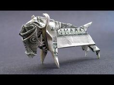 Money Origami Ox - Dollar Bill Art