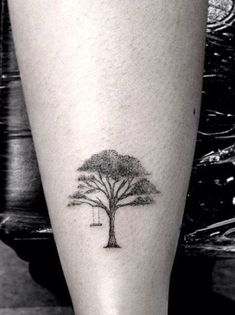 Trees are gigantic. But tree tattoos can be... very small! Miniature tattoo by Dr Woo. drwoo tree delicate
