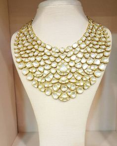 Fit for Royalties ! necklace for brides and more ! Flexible , bold and beautiful! One of a kind, never to repeat, it's yours if you deserve that treat! Indian Jewelry Sets, Indian Wedding Jewelry, India Jewelry, Bridal Jewelry, Jewelry Gifts, Indian Weddings, Indian Bridal, Enamel Jewelry, Diamond Jewelry