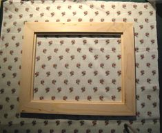 How to cover a frame with fabric