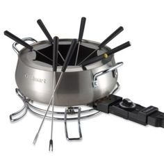 Cuisinart® Electric Fondue Set -   $59.99 BedBathandBeyond.comWhether you prefer to use it for fabulous desserts or scrumptious appetizers, you'll appreciate the convenience of this electric fondue pot set. As a member of the brushed stainless steel series, it has an attractive brushed stainless steel housing.