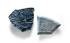 Julie Blyfield Brooch: Remnant & Relic Brooches, 2013 Oxidised sterling silver, enamel paint wax largest 8 x 9,5 x 0,4 cm