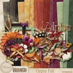 Quality DigiScrap Freebies: Giveaway: Gypsy Fall full kit from Kimeric Kreations