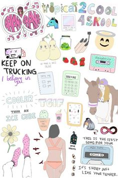 ariana grande, collage, cool, cute, girl, girly, hipster, horse, overlays, pastel, quote, soft, stickers, transparent, tumblr, wallpaper