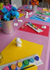 Painting Birthday Party via divinepartyconcep. 3rd Birthday Parties, Birthday Fun, Birthday Ideas, Rainbow Birthday, Birthday Painting, Art Party, Party Planning, Party Time, Play Doe