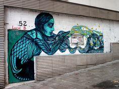 StreetArt, Madrid, Spain by Bastardilla