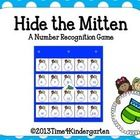 Students can practice number recognition while playing this game with the whole class or small groups.  Hide the Mitten behind a snowball number ca...