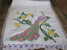 Peacock Mats, Table Mats, Embroidered Mat, Dressing Table Mat, Doily Mat…