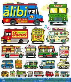 Alibi Food Truck Field Guide by Jesse Philips, via Behance