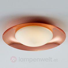 Glänzender Kupferrand - LED-Deckenleuchte Pastille sicher & bequem online bestellen bei Lampenwelt.de.