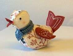 Annabelle Witzel Tutorial from From Theresa Rohrer - bird softie pattern Sewing Toys, Sewing Crafts, Sewing Projects, Craft Projects, Bird Crafts, Felt Crafts, Fabric Crafts, Fabric Birds, Felt Fabric