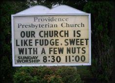 Church sign, humor