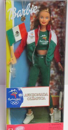 Sydney 2000 Olympic Games BARBIE Doll Olympia Mexico Aficionada Olimpica NEW #Mattel #DollswithClothingAccessories