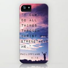 Philippians 4:13 in Nature iPhone Case by Caleb Troy - $35.00