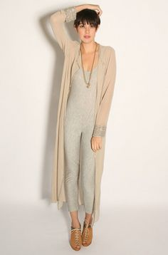 robe, vintage. jumpsuit, NA. Want the entire outfit.