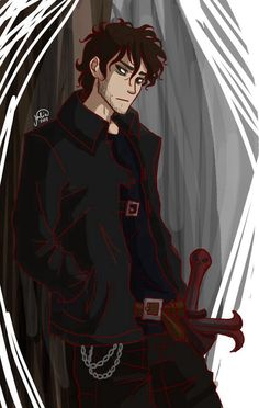 """Wow... Older Nico... *Dies*<<<sorry but I don't think he is """"hot"""" I think Percy is though and Luke and Jason. So a lot."""