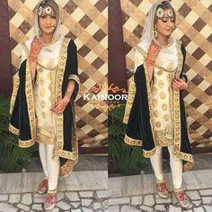 Pinterest: @pawank90 Indian Suits, Indian Attire, Punjabi Suits, Indian Dresses, Indian Wear, Indian Clothes, Indian Style, Punjabi Wedding, Bridal Style