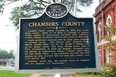Chambers County:  Created December 18, 1832 from Creek Indian cession.  LaFayette, Alabama