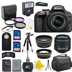 Nikon D3300 24.2 MP CMOS Digital SLR Camera + AF-S 18-55mm VR II Zoom Lens…