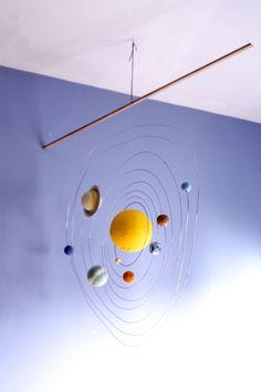 Ya tenemos montado el sistema solar que os prometimos, convertido en un móvil! Para hacerlo hemos utilizado: un listón de ma...