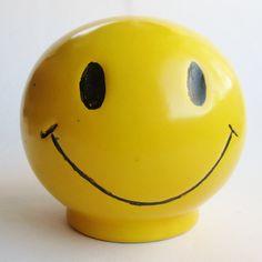 Vintage 70s Ceramic Smiley Face McCoy Have a by SanDiegoVintage, $52.00