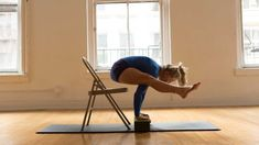 Iyengar 201: Play with Arm Balancing in This Tortoise Pose-to-Firefly Transition with a Chair | Yoga Journal
